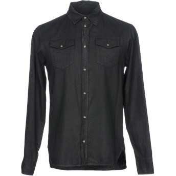 《セール開催中》FRANKIE MORELLO メンズ デニムシャツ ブラック S コットン 100%