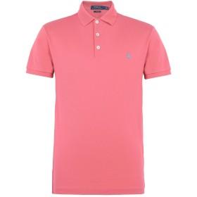 《期間限定セール開催中!》POLO RALPH LAUREN メンズ ポロシャツ コーラル S コットン 97% / ポリウレタン 3% Slim Fit Stretch Polo