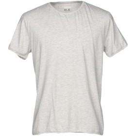 《期間限定セール開催中!》VI.E SIX EDGES メンズ T シャツ ライトグレー S 100% コットン