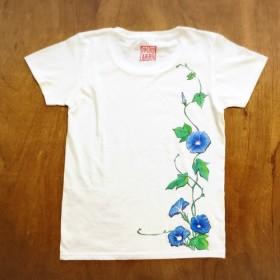 おとな 手描きTシャツ(朝顔)