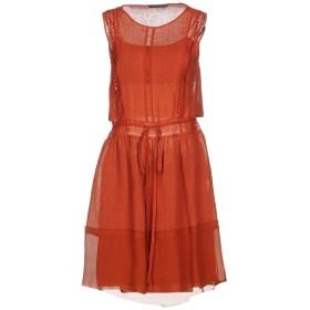 《期間限定 セール開催中》ALBERTA FERRETTI レディース ミニワンピース&ドレス 赤茶色 40 90% 麻 10% ナイロン