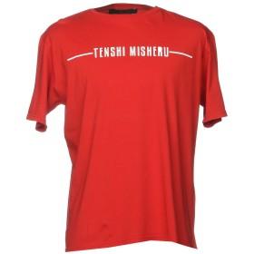 《期間限定セール開催中!》TENSHI MISHERU メンズ T シャツ レッド M コットン 100%