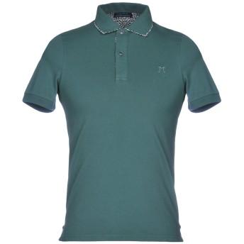 《期間限定セール開催中!》DIMATTIA メンズ ポロシャツ ダークグリーン XS 95% コットン 5% ポリウレタン