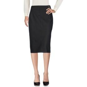 《セール開催中》MARIA GRAZIA SEVERI レディース 7分丈スカート ブラック 46 コットン 49% / ナイロン 44% / ポリウレタン 7%