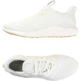 《セール開催中》ADIDAS メンズ スニーカー&テニスシューズ(ローカット) ホワイト 8 紡績繊維 / ゴム ALPHABOUNCE EM UNDYE