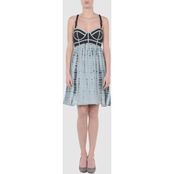 《期間限定 セール開催中》VALENTINE GAUTHIER レディース ミニワンピース&ドレス ブラック 2 コットン 80% / シルク 20%