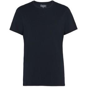 《期間限定セール開催中!》BREAD & BOXERS メンズ アンダーTシャツ ダークブルー S コットン 94% / ポリウレタン 6%