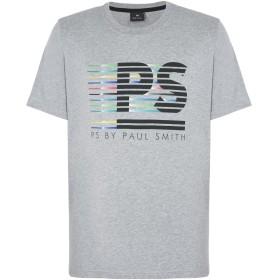 《期間限定 セール開催中》PS PAUL SMITH メンズ T シャツ ライトグレー S オーガニックコットン 100%