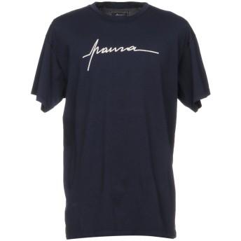 《セール開催中》PAURA メンズ T シャツ ダークブルー XL コットン 100%