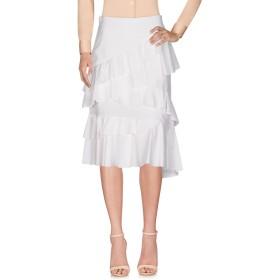 《セール開催中》PINKO レディース 7分丈スカート ホワイト 40 コットン 100%