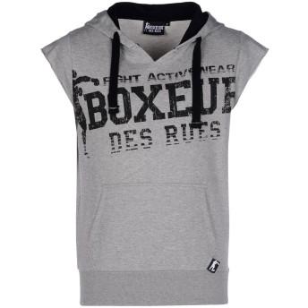 《9/20まで! 限定セール開催中》BOXEUR DES RUES メンズ スウェットシャツ ライトグレー S コットン 67% / ポリエステル 33% TRAINING SWEATSHIRT