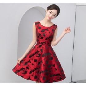 Aライン パーティドレス フォーマルドレス イブニングドレス フェミニン お呼ばれドレス 演奏会 年会  誕生日 デート ファスナー