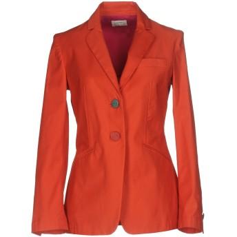 《9/20まで! 限定セール開催中》MALPARMI M.U.S.T. レディース テーラードジャケット オレンジ 40 97% コットン 3% ポリウレタン