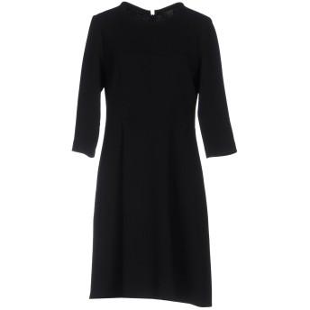 《セール開催中》MIAU by CLARA ROTESCU レディース ミニワンピース&ドレス ブラック 46 ウール 98% / ポリウレタン 2%