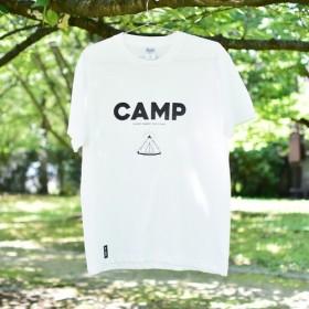 CAMP Tシャツ(メンズM/ホワイト ブラック)