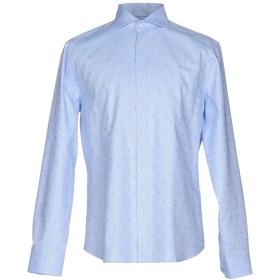 《セール開催中》IVERGANO メンズ シャツ スカイブルー 41 コットン 100%