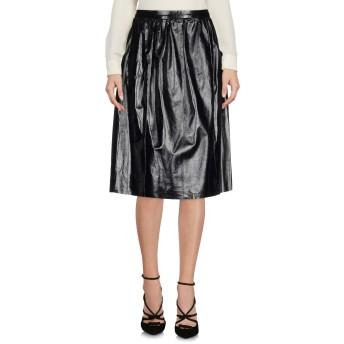 《セール開催中》TWISTY PARALLEL UNIVERSE レディース ひざ丈スカート ブラック XS 羊革(ラムスキン) 100%