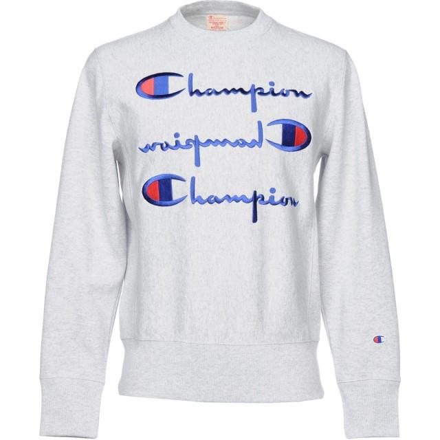 《期間限定セール開催中!》CHAMPION メンズ スウェットシャツ グレー XS コットン 86% / ポリエステル 14%