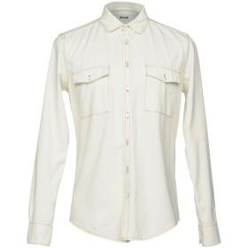 《期間限定セール開催中!》MSGM メンズ デニムシャツ アイボリー 40 コットン 100%