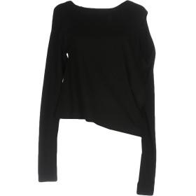 《期間限定 セール開催中》MM6 MAISON MARGIELA レディース T シャツ ブラック L コットン 100%