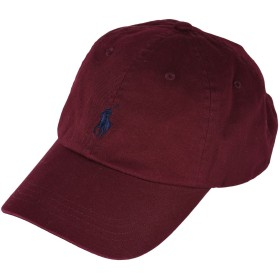 《セール開催中》POLO RALPH LAUREN メンズ 帽子 ボルドー one size コットン 100% Cotton Chino Cap