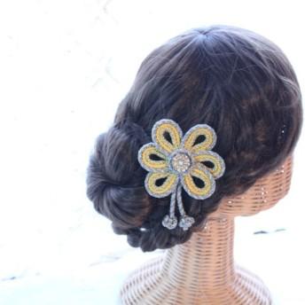 花の組紐飾り 卒業式 結婚式 七五三 浴衣