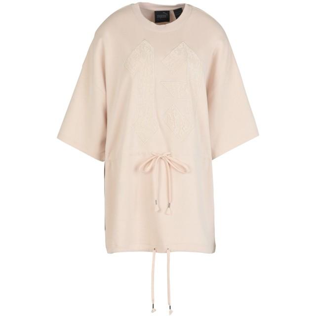 《セール開催中》FENTY PUMA by RIHANNA レディース スウェットシャツ ベージュ XS コットン 91% / ナイロン 9% DRAWSTRING GRAPHIC T-SHIRT