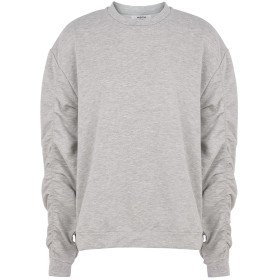 《期間限定セール開催中!》MOSS COPENHAGEN レディース スウェットシャツ ライトグレー M ポリエステル 55% / コットン 40% / ポリウレタン 5% Fifi Tia Sweatshirt