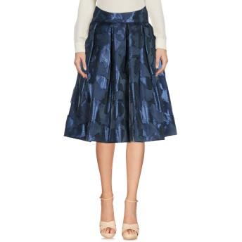 《セール開催中》IO COUTURE レディース ひざ丈スカート ブルー 40 シルク 75% / Lurex 25%