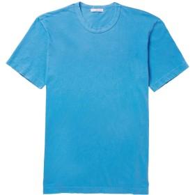 《期間限定 セール開催中》JAMES PERSE メンズ T シャツ アジュールブルー 3 コットン 100%