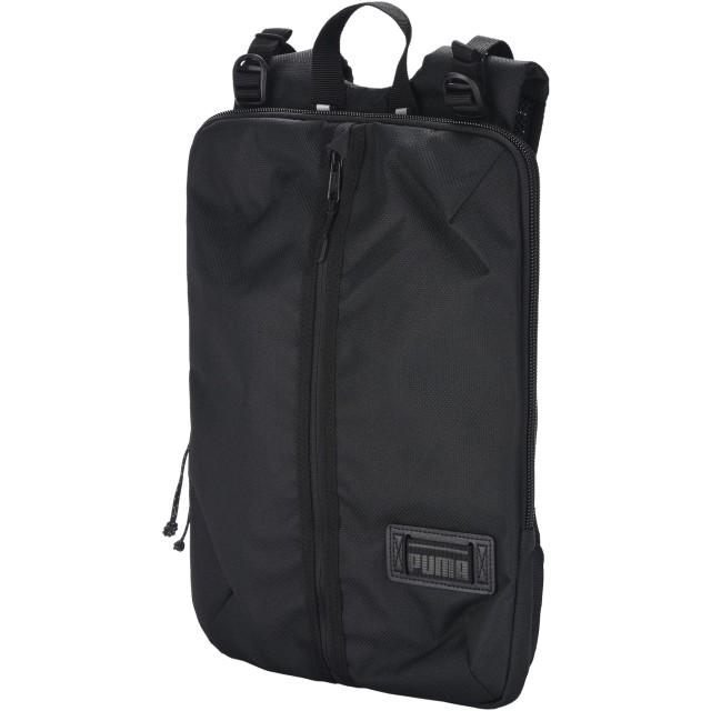 《期間限定セール開催中!》PUMA メンズ バックパック&ヒップバッグ ブラック ナイロン 57% / ポリエステル 43% Puma Pace Hooded Backpack
