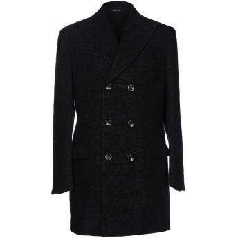 《9/20まで! 限定セール開催中》BRIAN DALES メンズ コート ブラック 50 麻 40% / ウール 21% / モヘヤ 13% / 毛(アルパカ) 13% / ナイロン 13%
