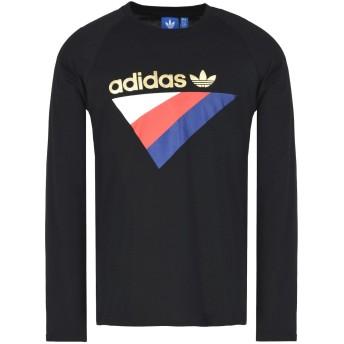 《期間限定セール開催中!》ADIDAS ORIGINALS メンズ T シャツ ブラック L コットン 100% ANICHKOV LS