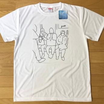 電車内(1) メンズ、レディースTシャツ