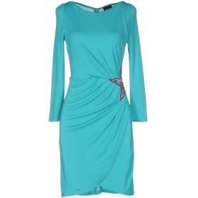 《セール開催中》JUST CAVALLI レディース ミニワンピース&ドレス ターコイズブルー 44 レーヨン 100%