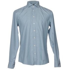 《セール開催中》BASTONCINO メンズ シャツ スカイブルー 41 コットン 100%