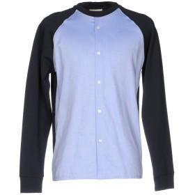 《期間限定 セール開催中》CORELATE メンズ スウェットシャツ スカイブルー S コットン 100%