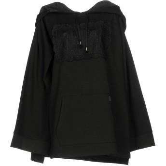 《期間限定セール開催中!》FENTY PUMA by RIHANNA レディース スウェットシャツ ブラック 8 78% コットン 17% ポリエステル 5% ポリウレタン FLEECE OFF SHOULDER HOODIE