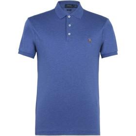 《セール開催中》POLO RALPH LAUREN メンズ ポロシャツ パステルブルー S コットン 100% Slim Fit Pima Polo
