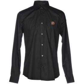 《9/20まで! 限定セール開催中》ZZEGNA メンズ シャツ ブラック S コットン 95% / ポリウレタン 5%