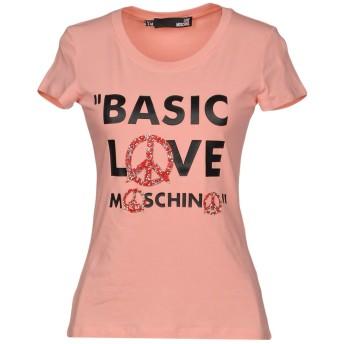 《セール開催中》LOVE MOSCHINO レディース T シャツ ピンク 44 92% コットン 8% ポリウレタン ガラス