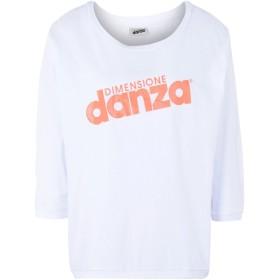 《期間限定セール開催中!》DIMENSIONE DANZA レディース T シャツ ホワイト S コットン 100% T-SHIRT 3/4 SS COLORS