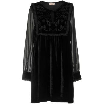 《セール開催中》SCEE by TWINSET レディース ミニワンピース&ドレス ブラック M レーヨン 65% / ナイロン 35% / ポリエステル