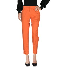 《セール開催中》SCEE by TWINSET レディース パンツ オレンジ S コットン 97% / ポリウレタン 3%
