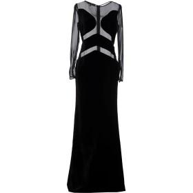 《セール開催中》ELISABETTA FRANCHI レディース ロングワンピース&ドレス ブラック 40 シルク 51% / レーヨン 49%