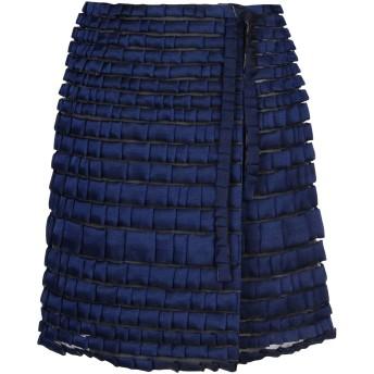 《セール開催中》GIORGIO ARMANI レディース ひざ丈スカート ダークブルー 40 ナイロン 100% / ポリエステル / シルク