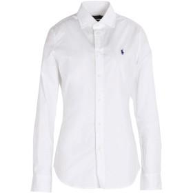 《期間限定セール開催中!》POLO RALPH LAUREN レディース シャツ ホワイト 4 コットン 95% / ポリウレタン 5% Slim Fit Stretch Poplin Shirt