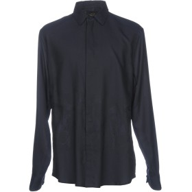 《期間限定セール開催中!》CAVALLI CLASS メンズ シャツ ダークブルー 54 コットン 60% / レーヨン 40%