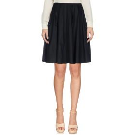 《セール開催中》EMPORIO ARMANI レディース ひざ丈スカート ブラック 40 コットン 97% / ポリウレタン 3%