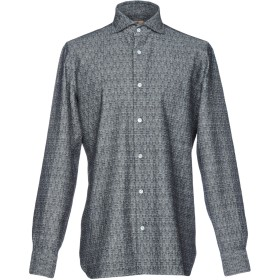 《9/20まで! 限定セール開催中》LUIGI BORRELLI NAPOLI メンズ シャツ ブラック M コットン 100%